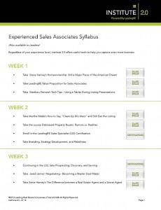 Experienced Sales Associates Syllabus
