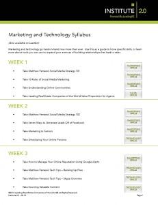 Marketing & Technology Syllabus