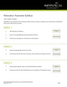 Relocation Associate Syllabus